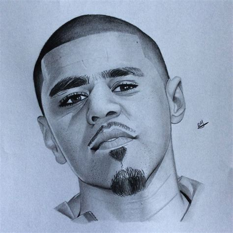 J Cole Drawing Easy by J Cole Drawing Portrait Drawings Follow Me