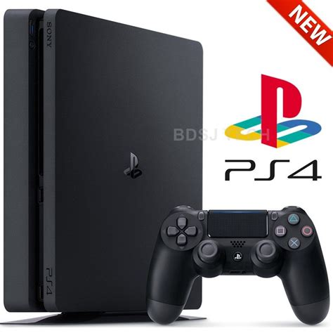 new ps1 console sony playstation 4 slim 500gb ps4 jet black console new