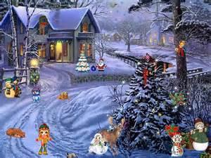 Desk Top Clock Christmas Screensaver Christmas Paradise