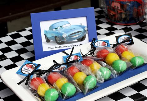cars themed birthday giveaways disney cars ice cream party