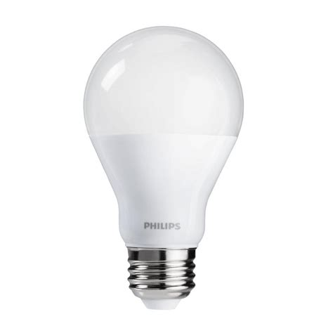 60 watt led light bulbs philips 60 watt equivalent a19 cri90 dimmable led light bulb soft white 12 pack 465195 the