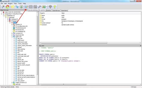 creating database schema with pgadmin iii gt gt 15 nice