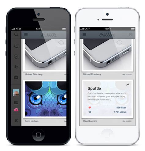 design inspiration iphone dribbble for iphone 5 navigation inspiration for mobile ui