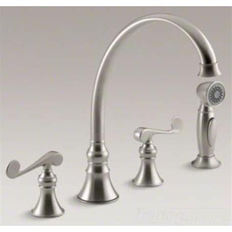 kohler revival kitchen faucet kohler k 16109 4 bn revival brushed nickel kitchen faucet
