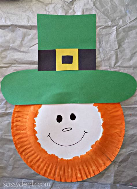 plate craft paper plate leprechaun craft for crafty morning