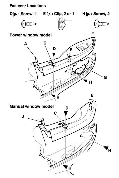 Service manual [1991 Honda Civic Door Panel Removal