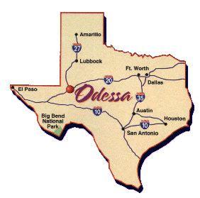 texas map odessa odessa texas