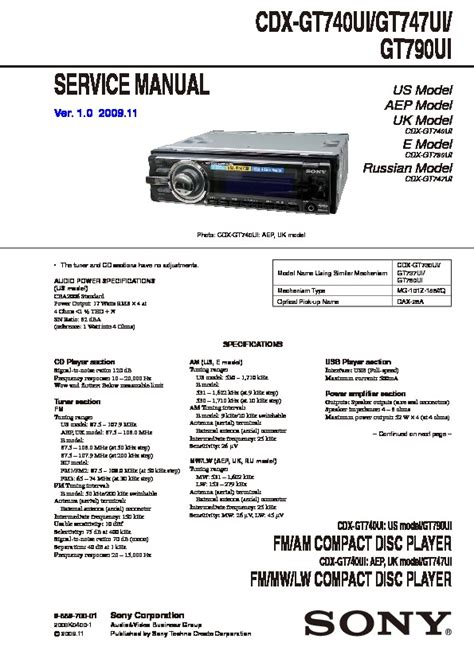 sony cdx gt740ui wiring diagram 31 wiring diagram images