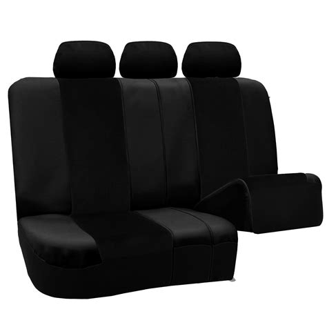 leather velour car seat covers full set black with carpet