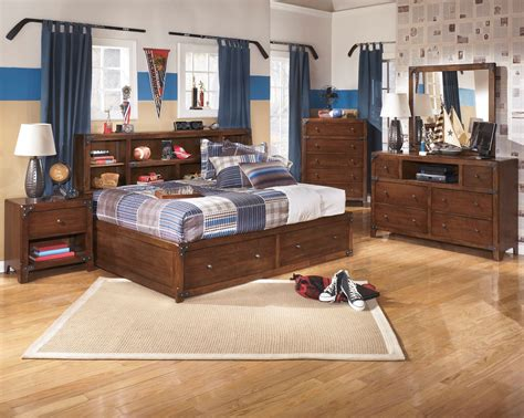 youth bedroom furniture with storage delburne youth bookcase storage bedroom set from ashley