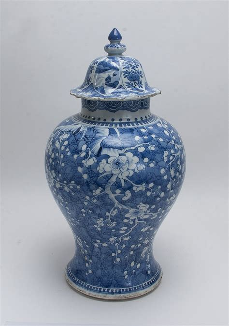 blue ginger jars blue and white lidded ginger jar