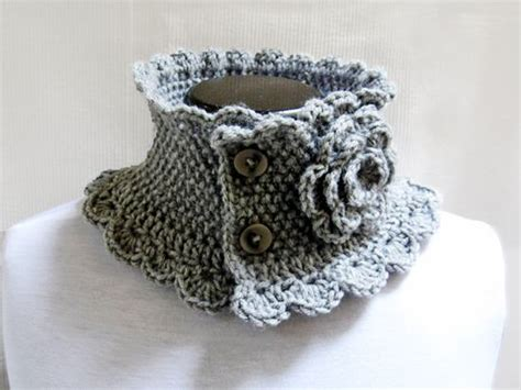 knitted collar pattern knit neck warmer collar grey style