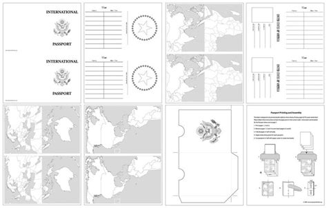 passport template for printable projects for international passport template