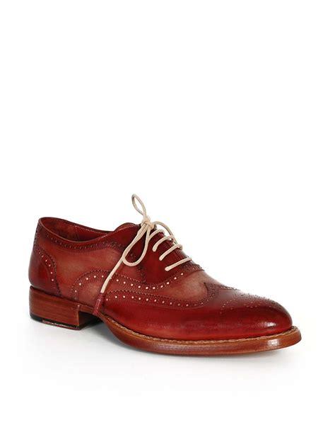 camel oxford shoes paul parkman bordeaux camel wingtip oxfords modishonline