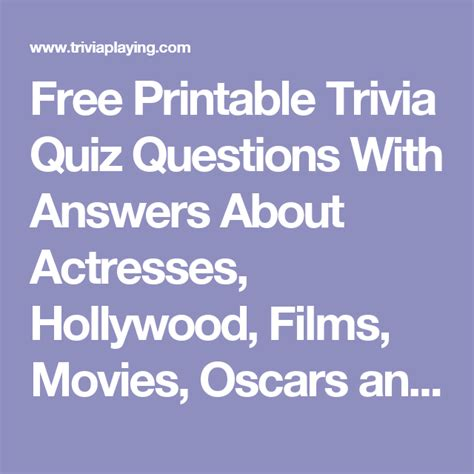 film quiz hollywood free printable trivia quiz questions with answers about