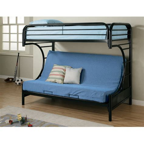 coaster furniture  style twin  full futon bunk bed