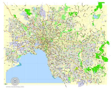 printable maps melbourne city map melbourne vector urban plan illustrator editable