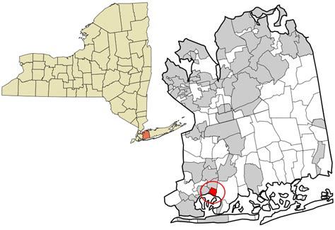 Nassau County Search File Nassau County New York Incorporated And Unincorporated Areas Bay Park Highlighted