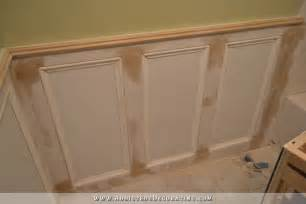 wainscoting shower walls recessed panel wainscoting with tile accent part 1