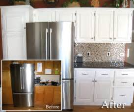 Awesome How To Repaint Kitchen Cabinet #1: Before-After-Two.jpg