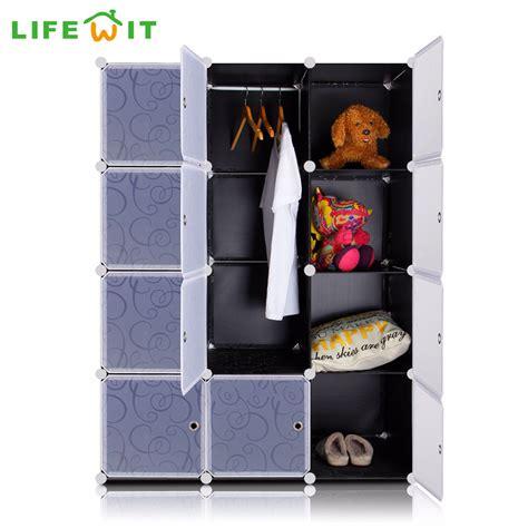 kleiderschrank plastik lifewit 12 cubes diy wardrobe plastic wardrobe closet