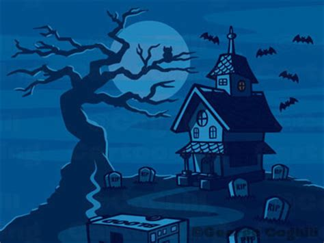 haunted house cartoon haunted house cartoon landscape illustration spooky haunte flickr