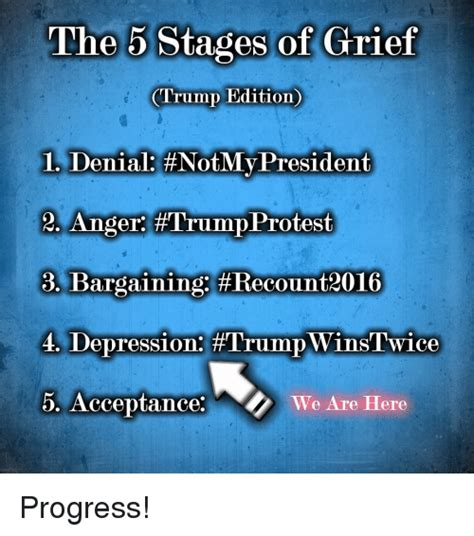 The Stages Of Grief Vacation Edition by 25 Best Memes About 5 Stages Of Grief 5 Stages Of Grief