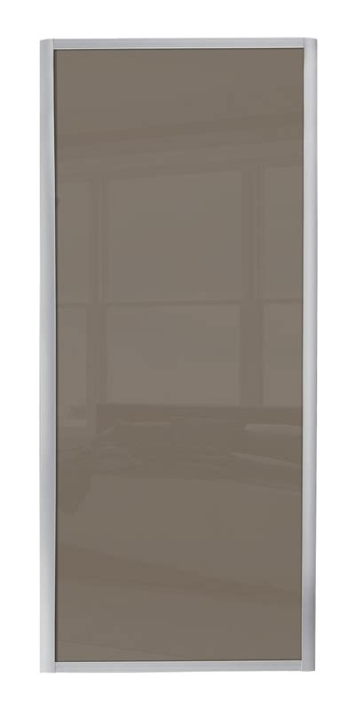 ellipse single panel walnut panel ellipse single panel door with silver frame and single cappuccino glass panel