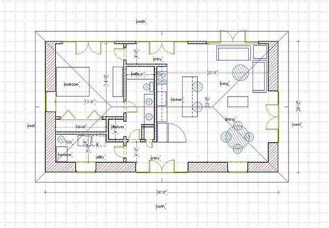 Straw Bail House Plans Straw Bale House Plan 660 Sq Ft House