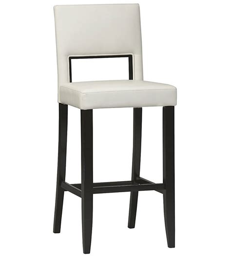 Bar Stools 30 Inch by 30 Inch Bar Stool White In Wood Bar Stools