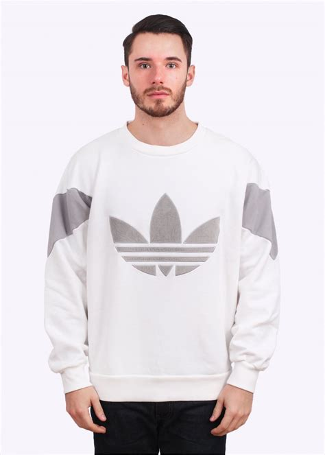 Sweater White Original adidas originals velvet crew sweater white