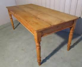 rustic pine 3 plank kitchen table antiques atlas