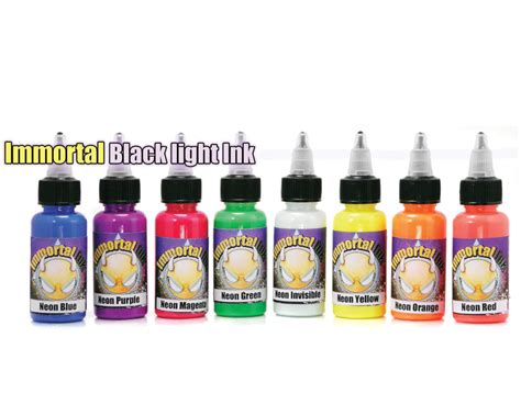 world wide tattoo supply 8 pack neon set black light ink inks