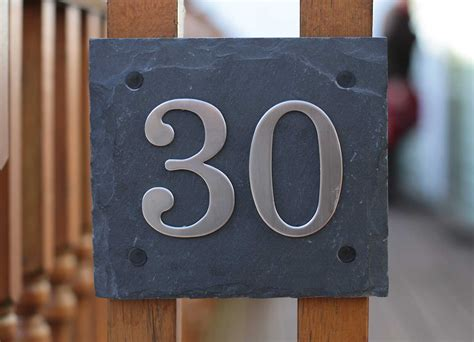 buy house number plaque natural slate door house number plaques with choice of stainless steel digits