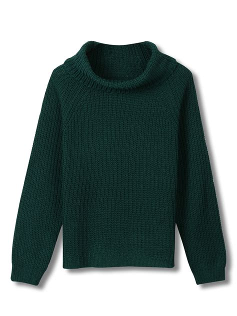 green knit sweater green cowl neck cable knit sweater choies