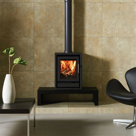 Riva F40 Freestanding Wood Burning Multi Fuel Stove Fuel Burning Fireplaces