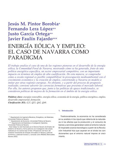 sterling y el caso energ 237 a e 243 lica y empleo el caso de pdf download available