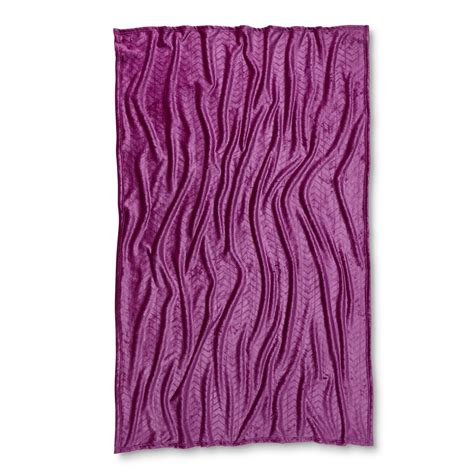 colormate carved purple velvet plush throw home bed
