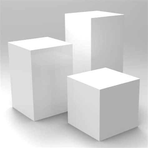 Plinth Or Pedestal Exhibition Display Plinths Set Of Three