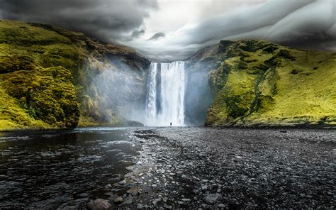 www hd skogafoss waterfalls iceland wallpapers hd wallpapers