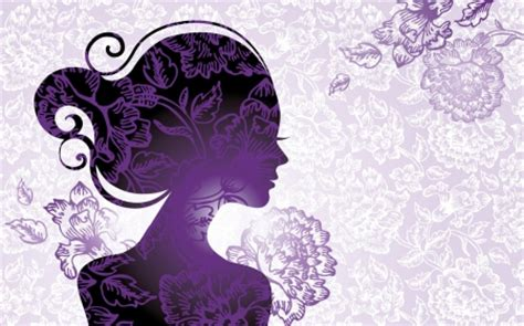 wallpaper cantik purple purple vector girl 3d and cg abstract background