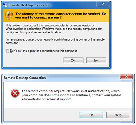bca unable to authenticate your identity rdp issues remote computers requires network level