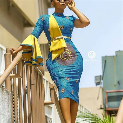 ankara pencil gown styles   beautiful  jiji