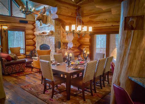 2013 parade home moose ridge cabin log home rustic dining room denver by mountain log