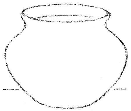 Water Pot Outline clay pot outline clipart best