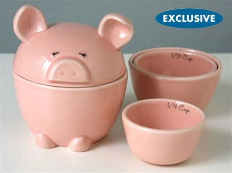 pig kitchen canisters nesting pig measuring cups and cannister set beyond