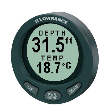 digital depth gauge for boats lowrance ltd 3800 in dash digital depth temp gauge