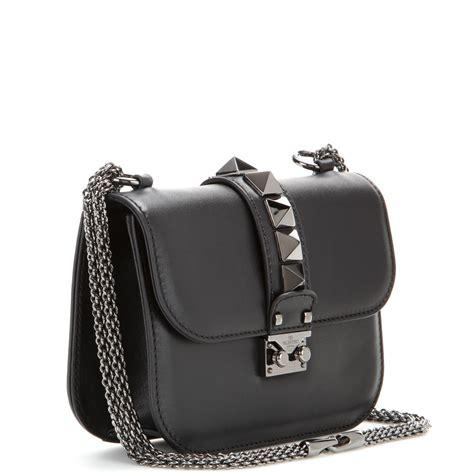 Bag Valentino Selempang Stud 2962 lyst valentino lock noir small leather shoulder bag in black