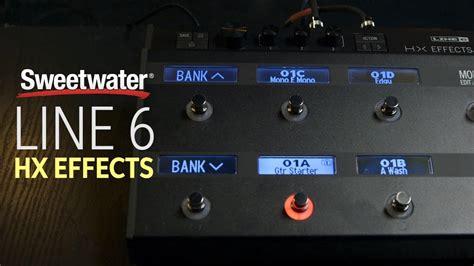 Multi Efek Line 6 line 6 hx effects multi effects processor review insync sweetwater