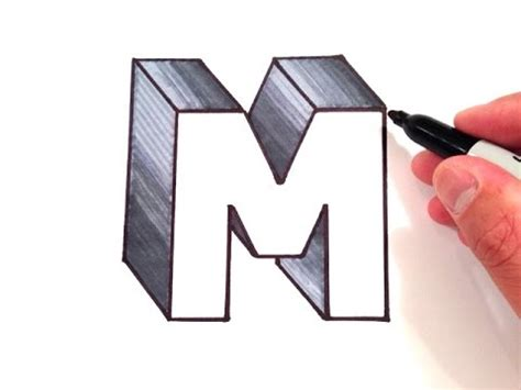 M Drawing Photo by How To Draw The Letter M In 3d